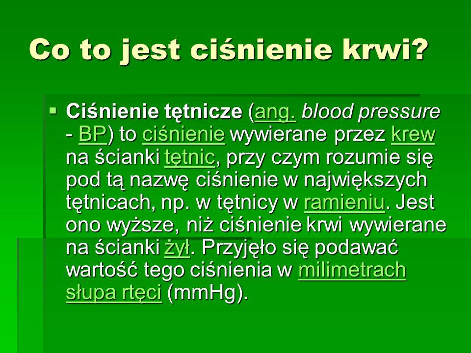 Co to jest ciśnienie krwi