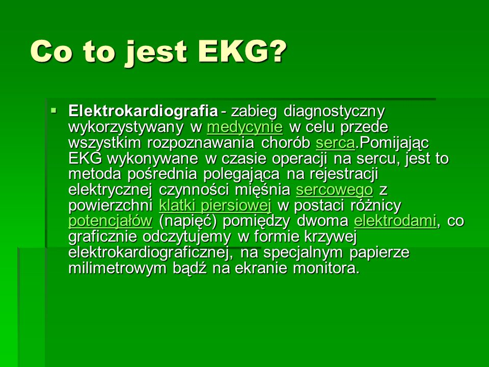Co to jest EKG