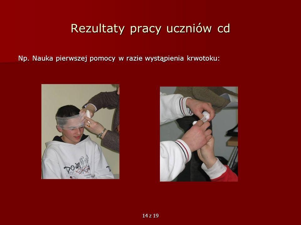 Rezultaty pracy uczniów cd