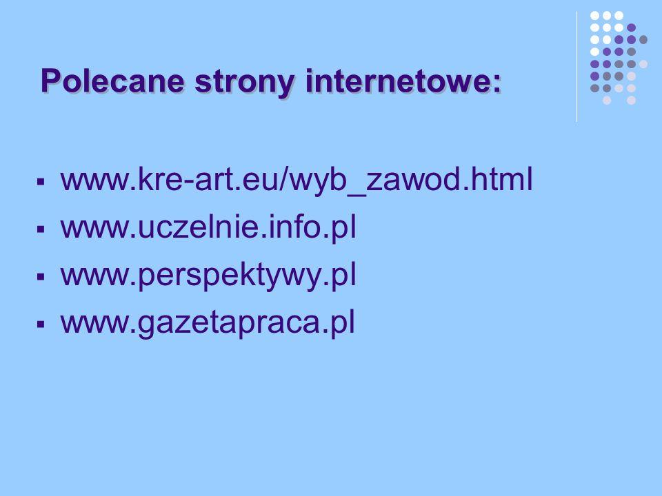 Polecane strony internetowe: