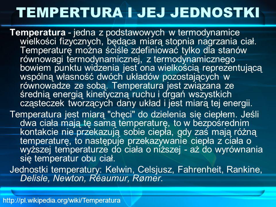TEMPERTURA I JEJ JEDNOSTKI