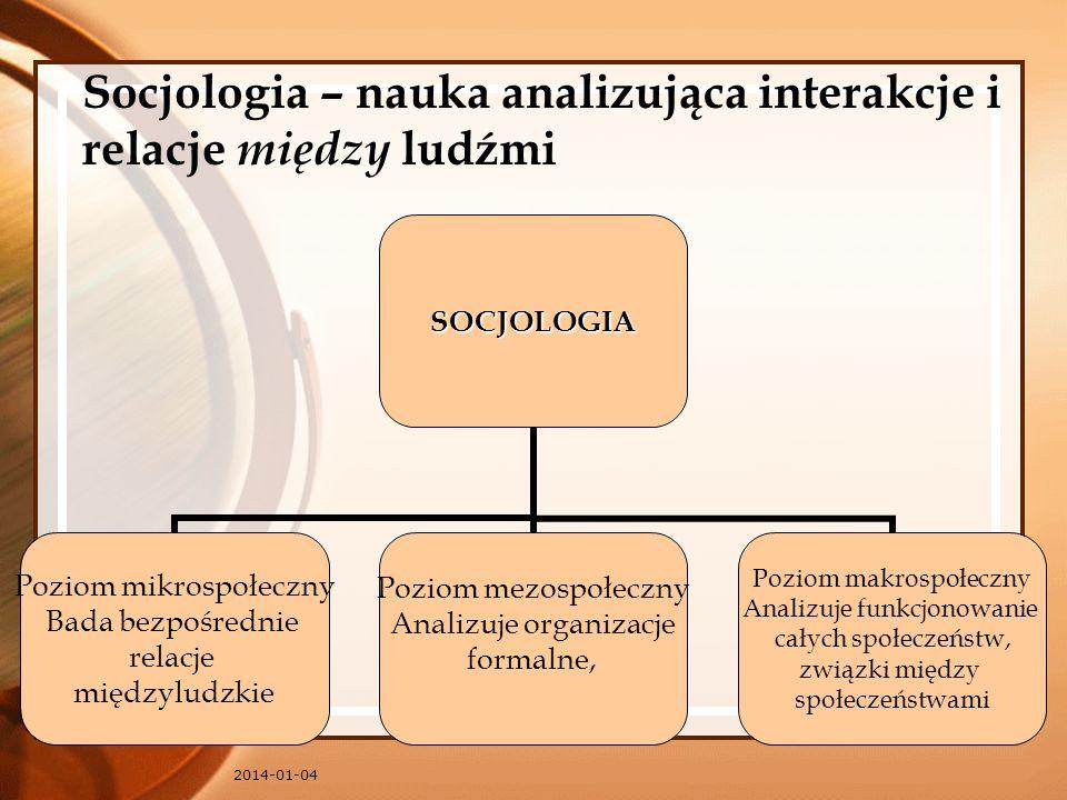 Socjologia – nauka analizująca interakcje i relacje między ludźmi