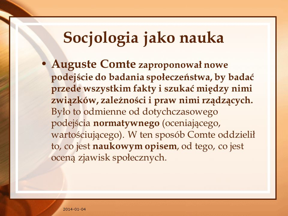 Socjologia jako nauka