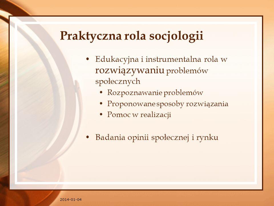Praktyczna rola socjologii
