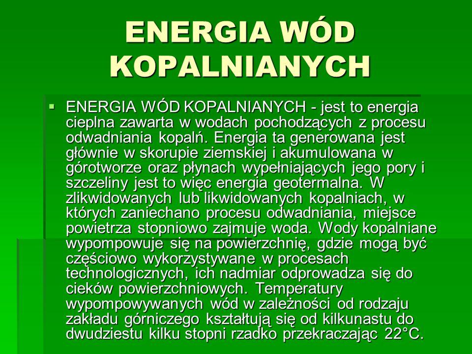 ENERGIA WÓD KOPALNIANYCH