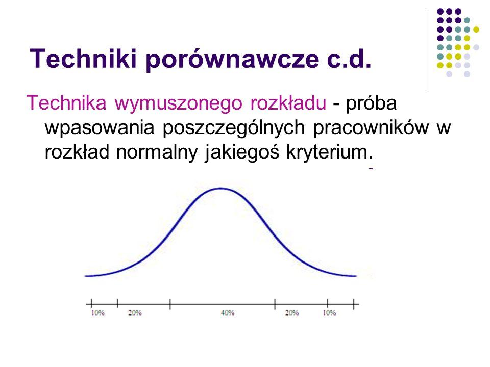 Techniki porównawcze c.d.