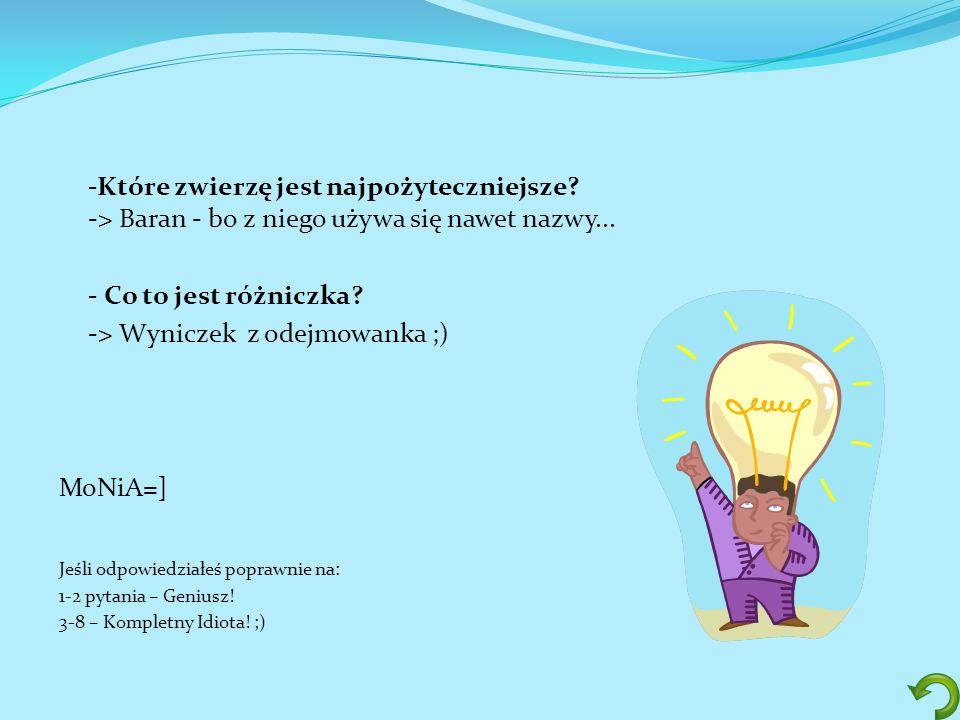-> Wyniczek z odejmowanka ;)
