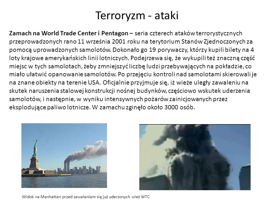 Terroryzm - ataki