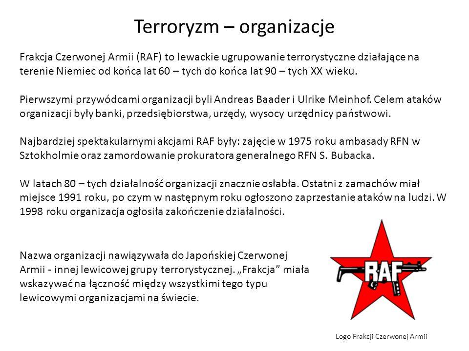 Terroryzm – organizacje