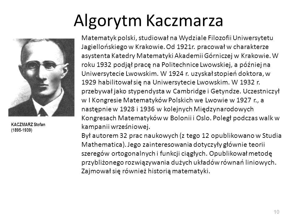 Algorytm Kaczmarza