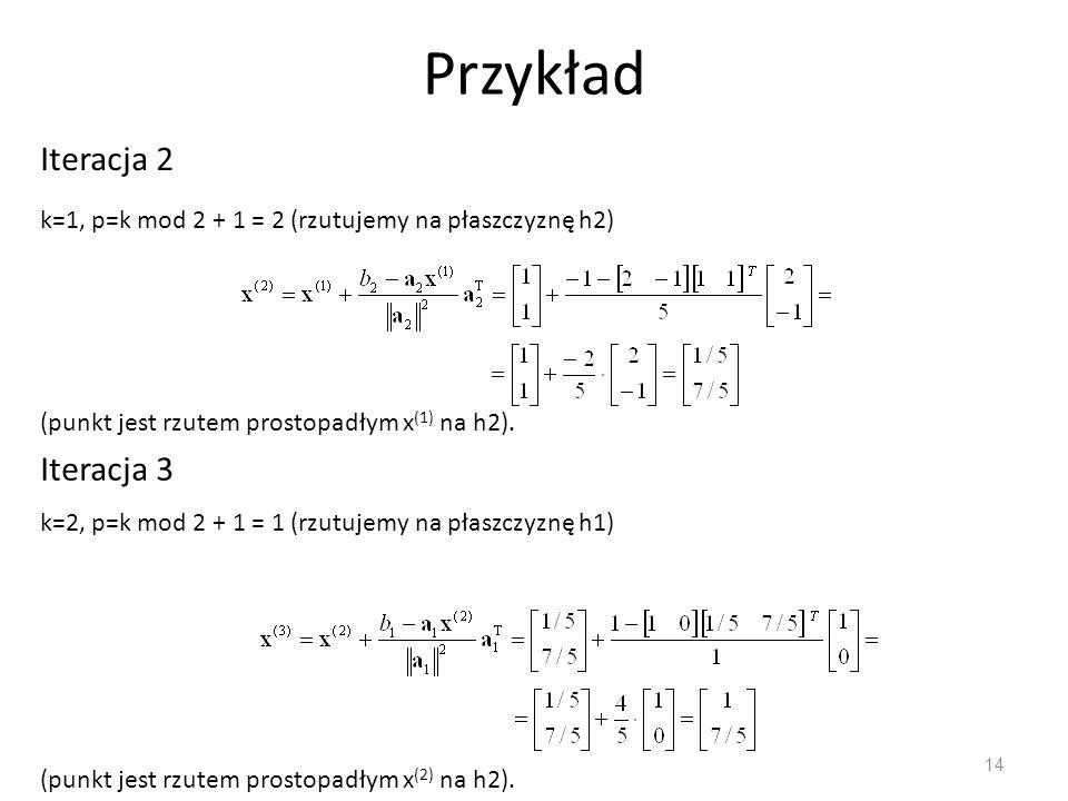 Przykład Iteracja 2 Iteracja 3