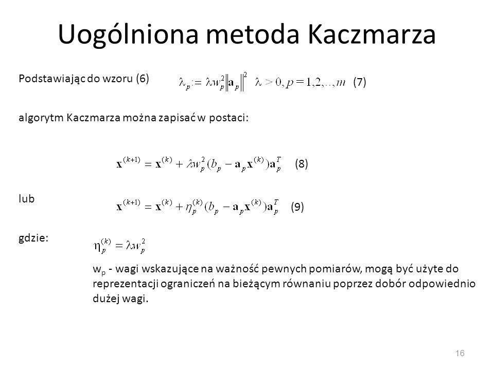 Uogólniona metoda Kaczmarza