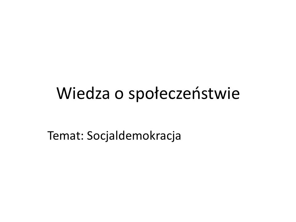Wiedza o społeczeństwie