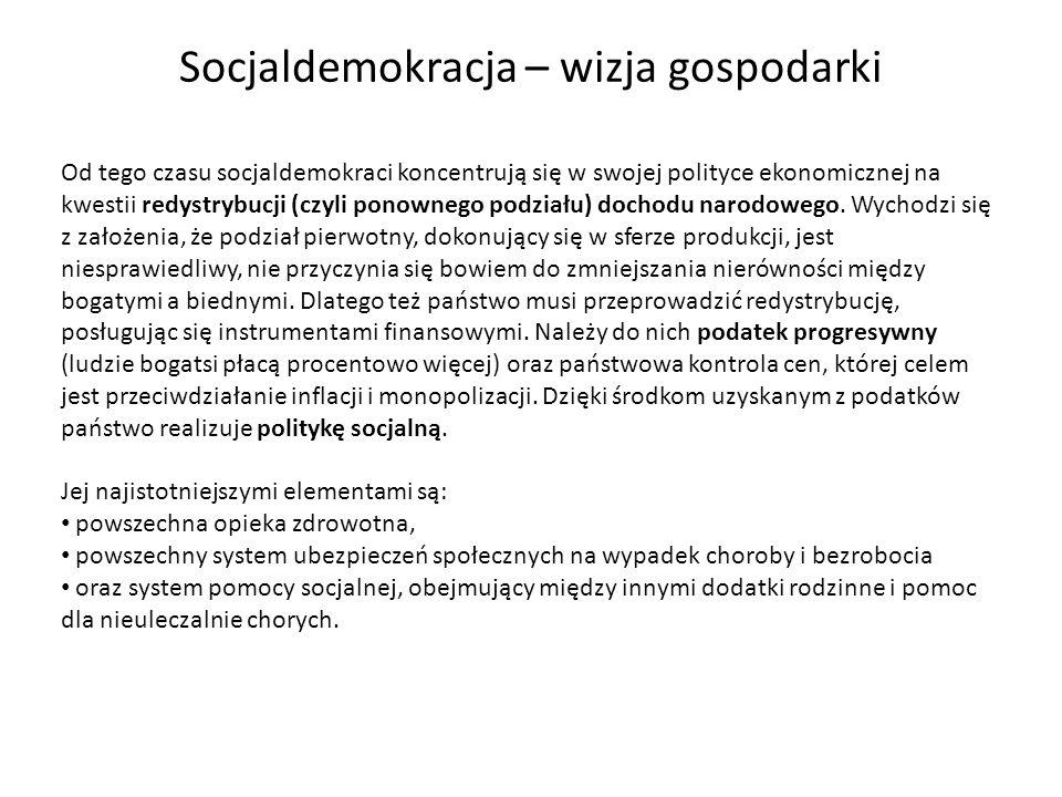 Socjaldemokracja – wizja gospodarki