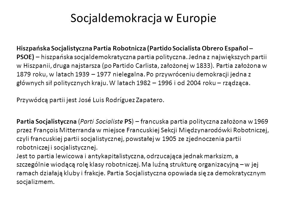 Socjaldemokracja w Europie