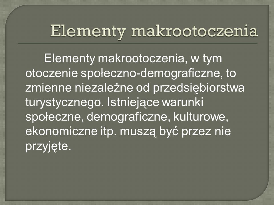 Elementy makrootoczenia