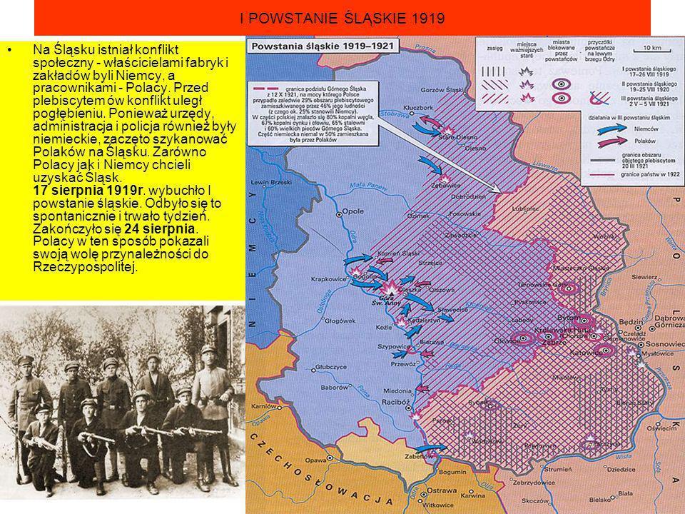 I POWSTANIE ŚLĄSKIE 1919