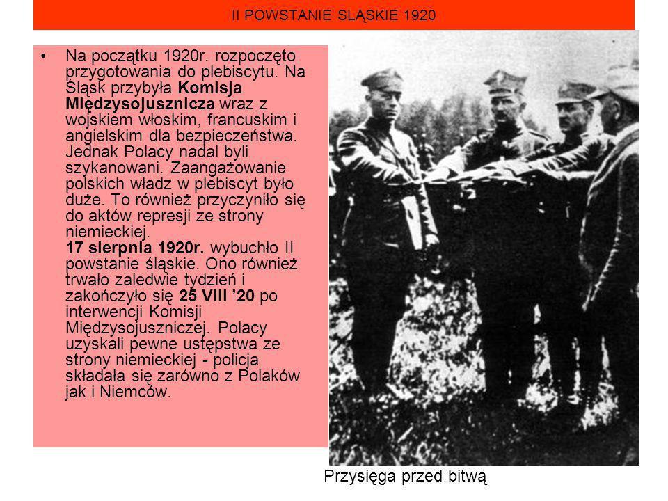 II POWSTANIE SLĄSKIE 1920