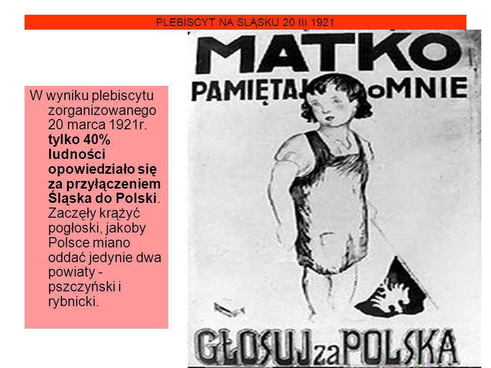 PLEBISCYT NA SLĄSKU 20 III 1921