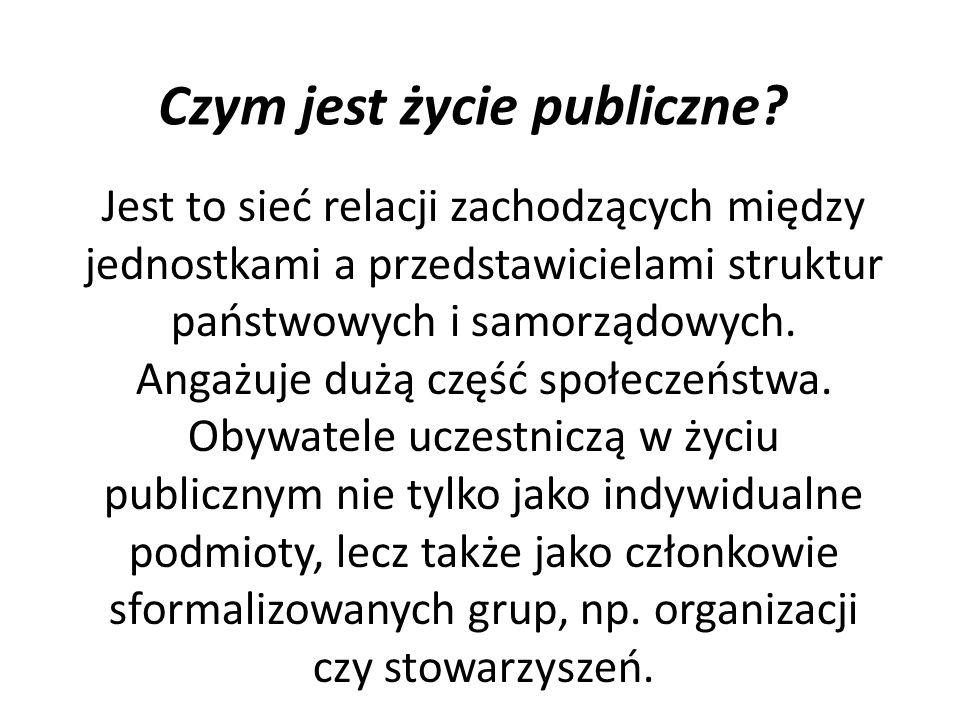 Czym jest życie publiczne
