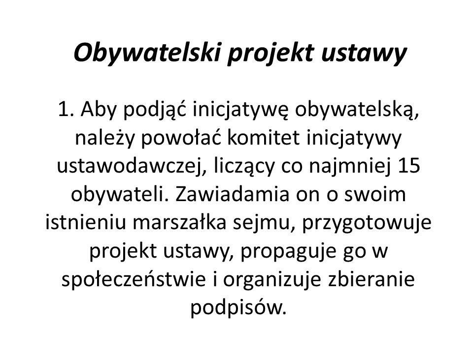 Obywatelski projekt ustawy