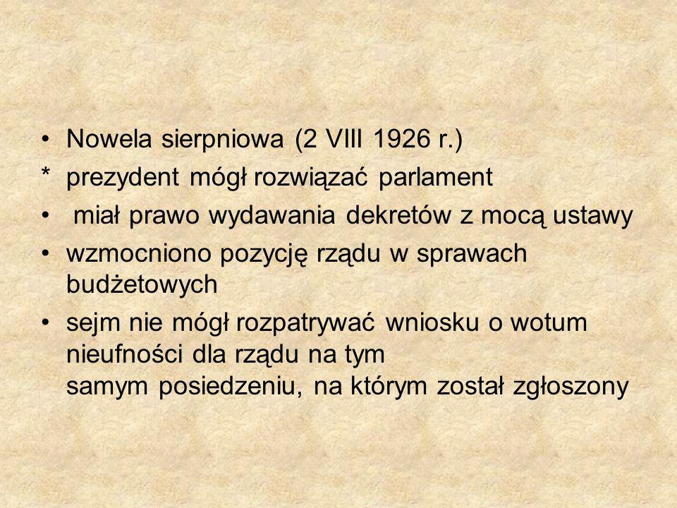 Nowela sierpniowa (2 VIII 1926 r.)