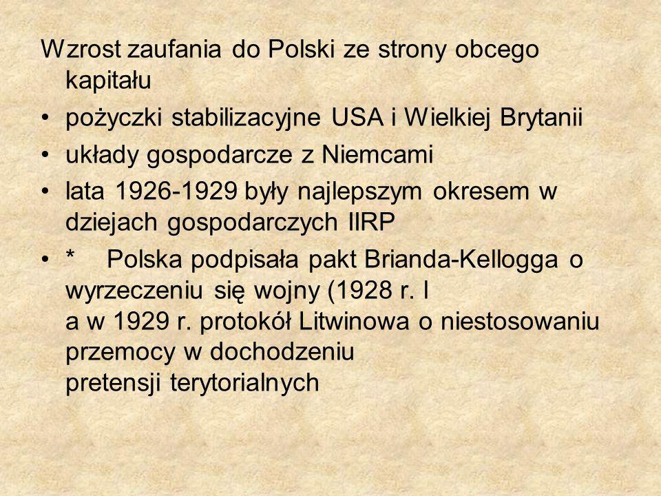Wzrost zaufania do Polski ze strony obcego kapitału