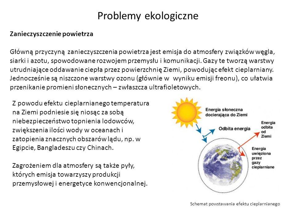 Problemy ekologiczne Zanieczyszczenie powietrza