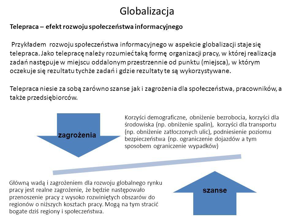 Globalizacja Telepraca – efekt rozwoju społeczeństwa informacyjnego