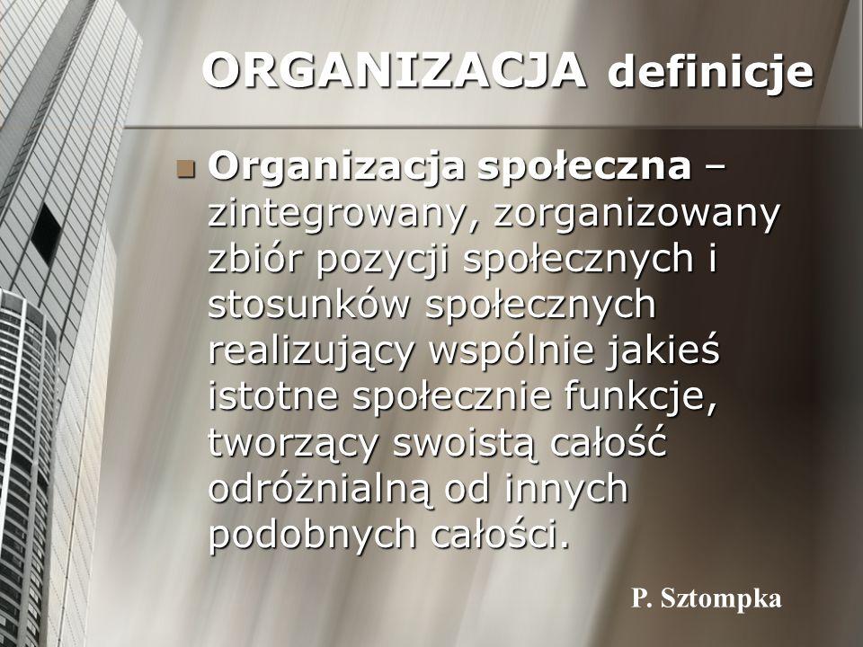 ORGANIZACJA definicje