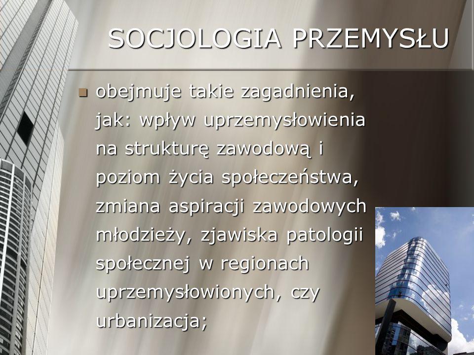 SOCJOLOGIA PRZEMYSŁU