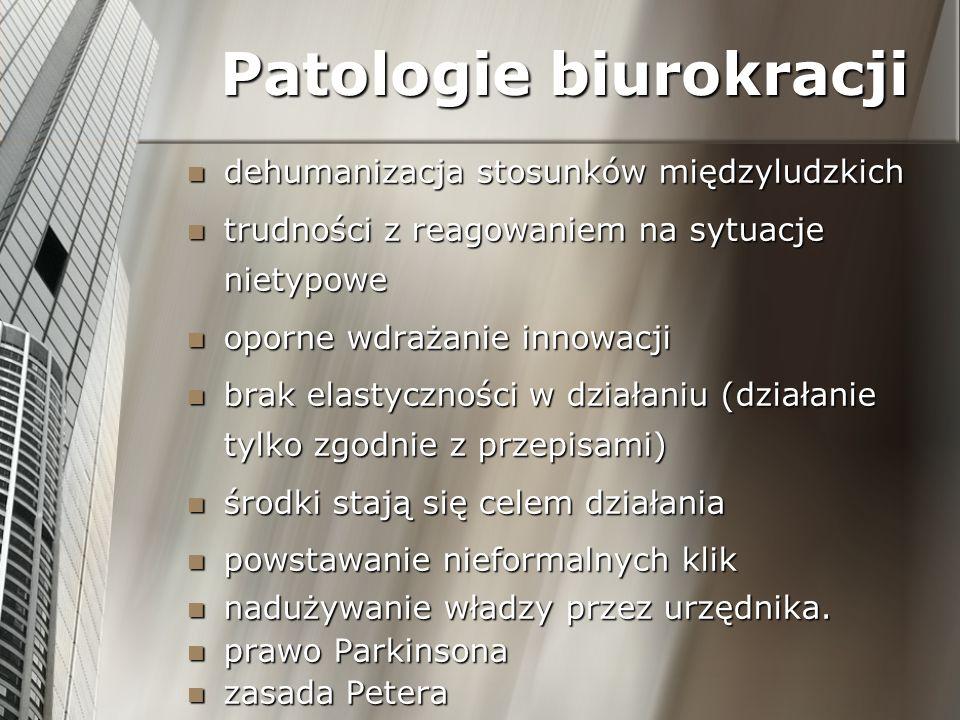 Patologie biurokracji