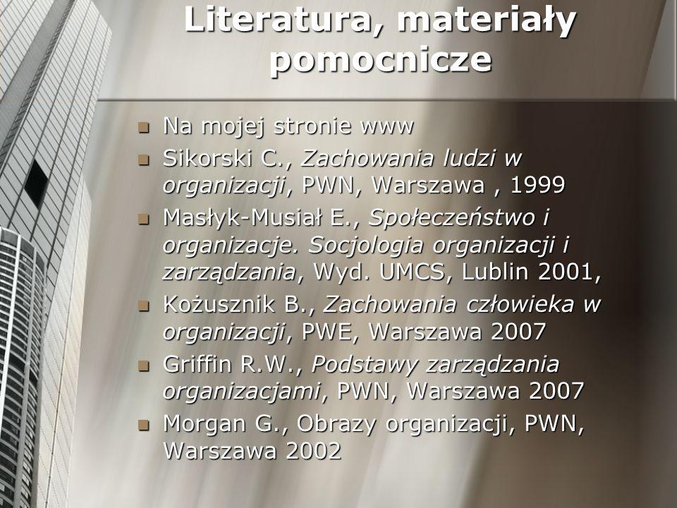 Literatura, materiały pomocnicze