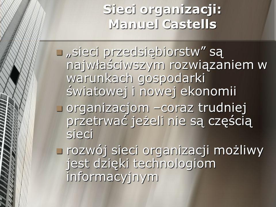 Sieci organizacji: Manuel Castells