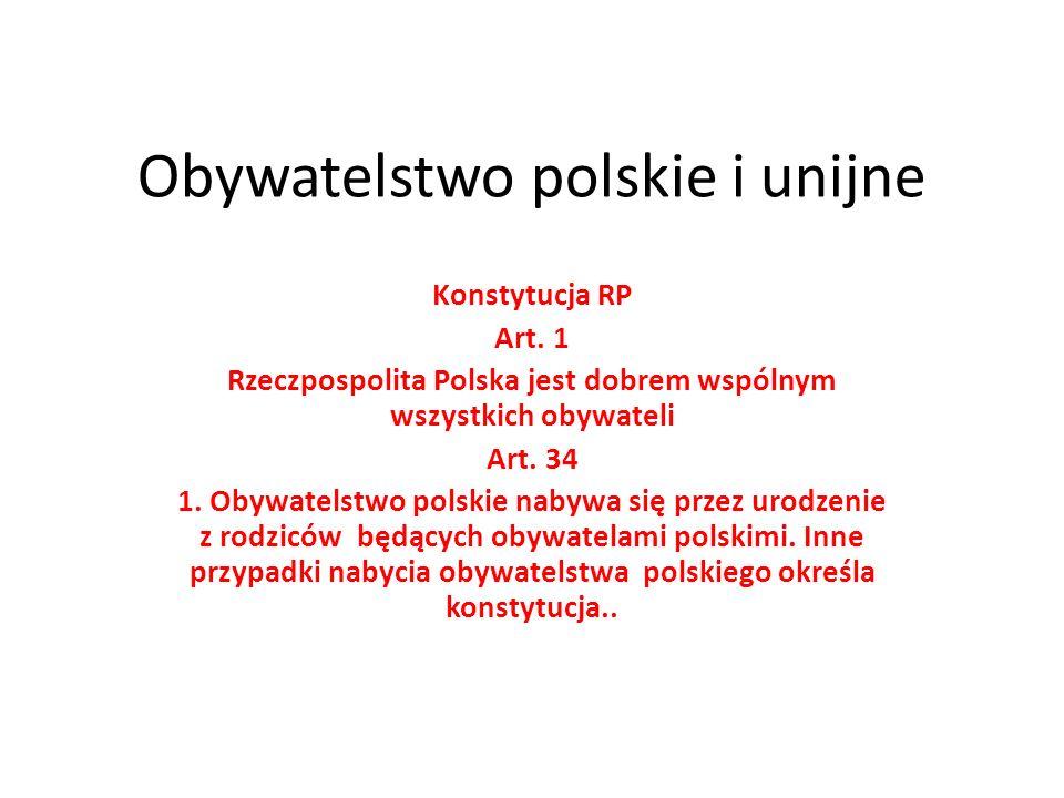 Obywatelstwo polskie i unijne