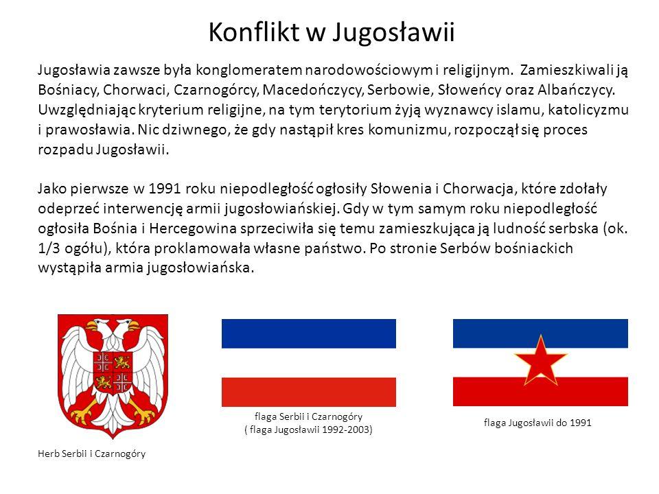 flaga Serbii i Czarnogóry ( flaga Jugosławii 1992-2003)