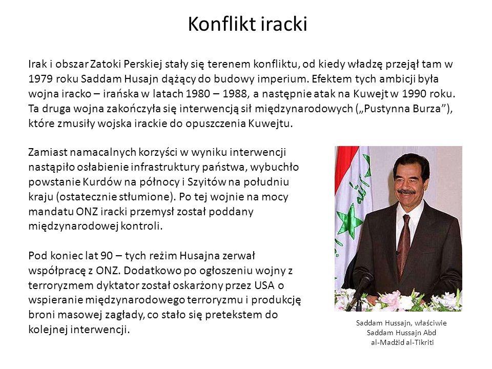 Saddam Hussajn, właściwie Saddam Hussajn Abd