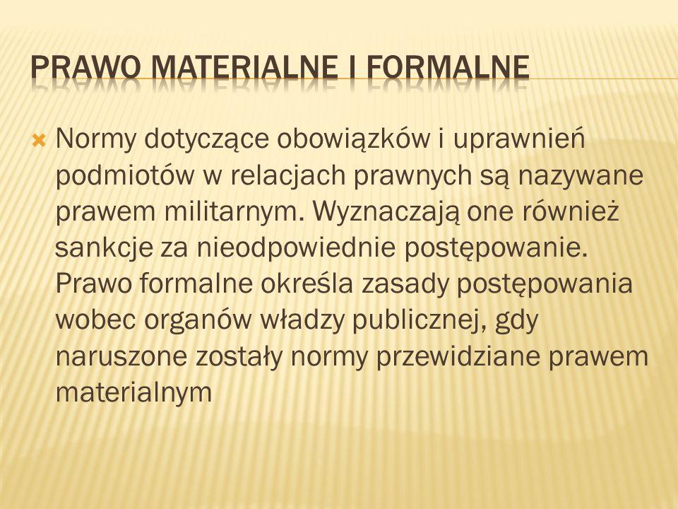 Prawo Materialne i Formalne