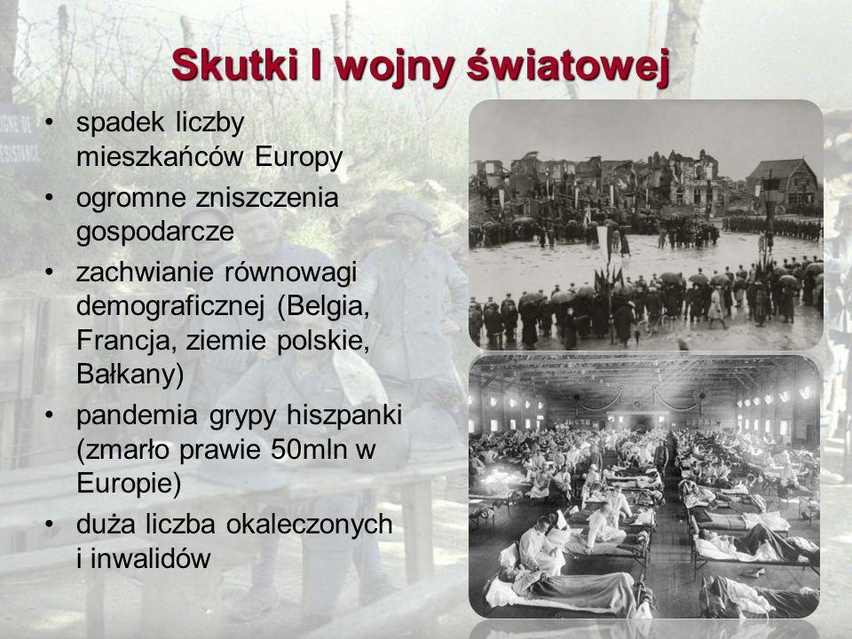 Skutki I wojny światowej