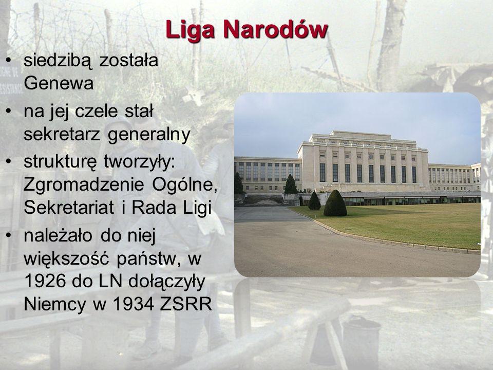 Liga Narodów siedzibą została Genewa