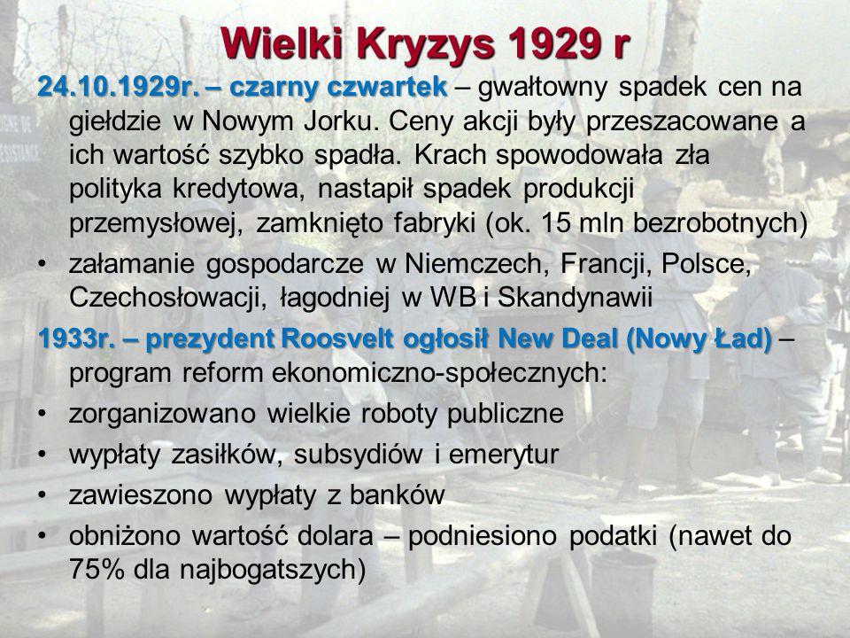 Wielki Kryzys 1929 r