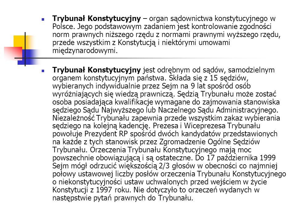 Trybunał Konstytucyjny – organ sądownictwa konstytucyjnego w Polsce