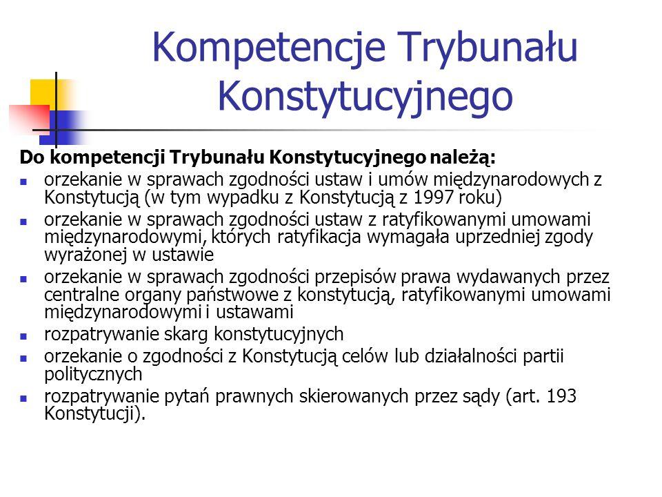 Kompetencje Trybunału Konstytucyjnego