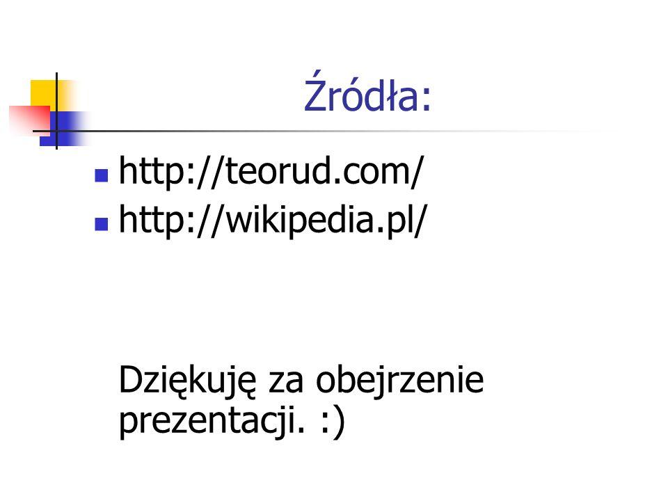 Źródła: http://teorud.com/