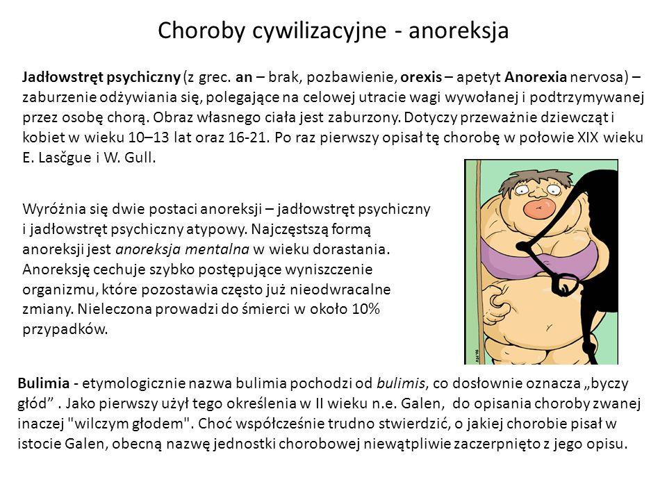 Choroby cywilizacyjne - anoreksja