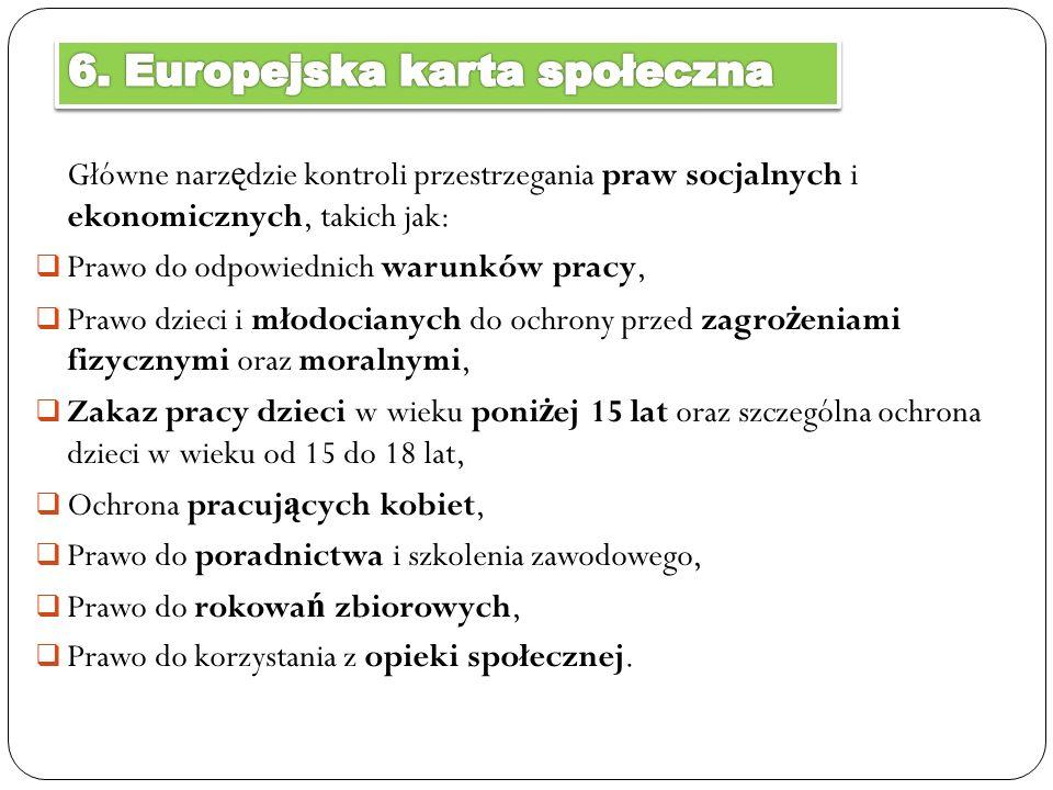 6. Europejska karta społeczna