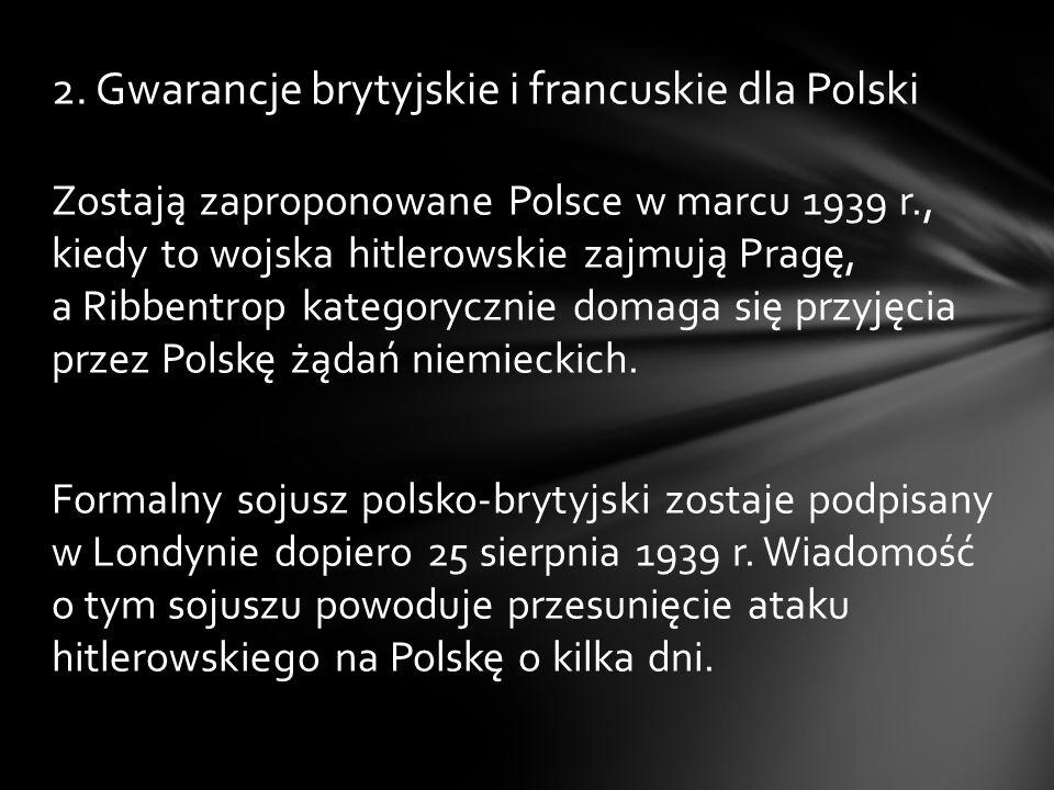2. Gwarancje brytyjskie i francuskie dla Polski