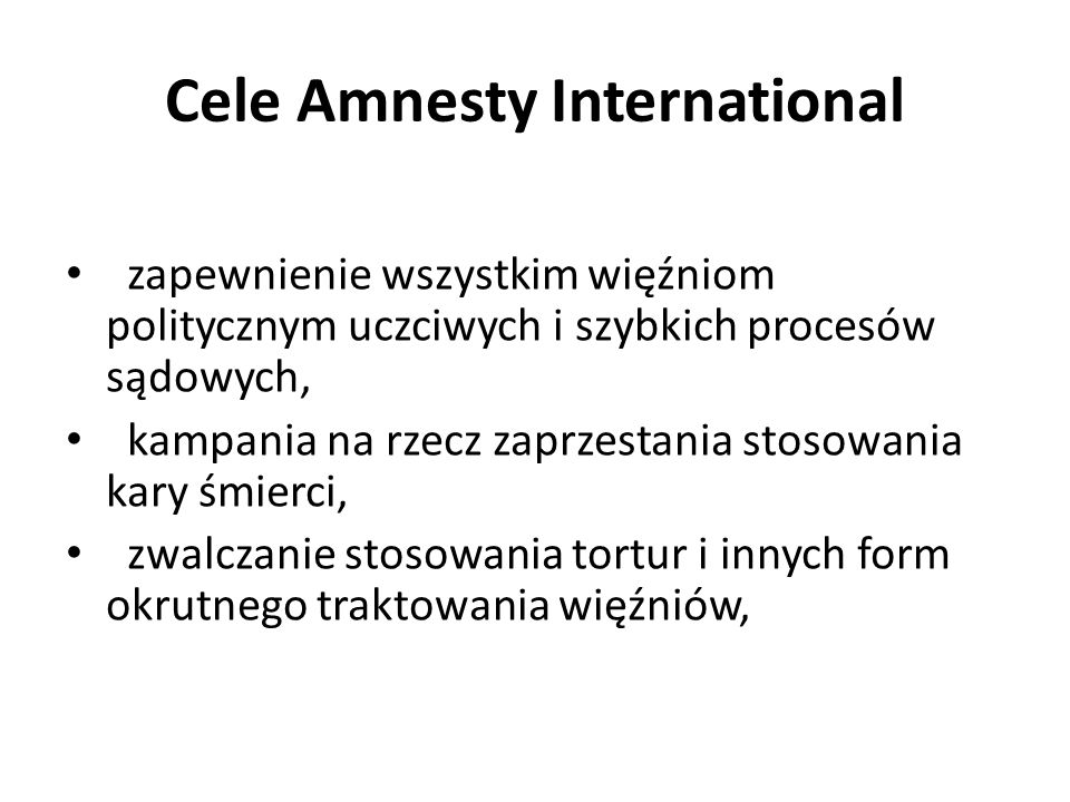Cele Amnesty International