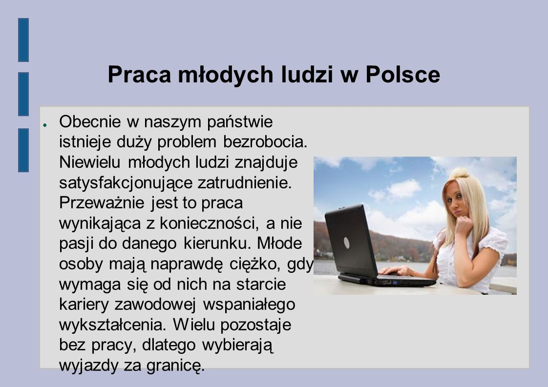 Praca młodych ludzi w Polsce
