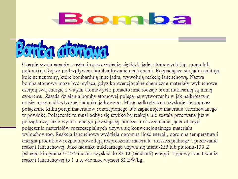 Bomba Bomba atomowa.